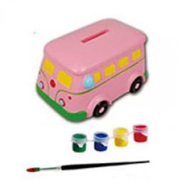 Детская копилка-раскраска Автобус