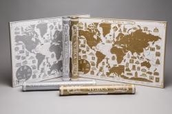 """Скретч-карт мира """"Чудеса света"""" в картонном тубусе"""