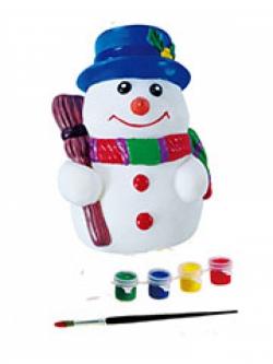 Детская копилка-раскраска Снеговик