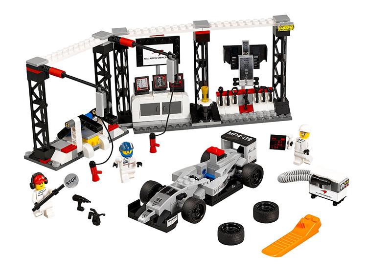 LEGO Speed Champions Конструктор Пункт техобслуживания McLaren Mercedes 75911