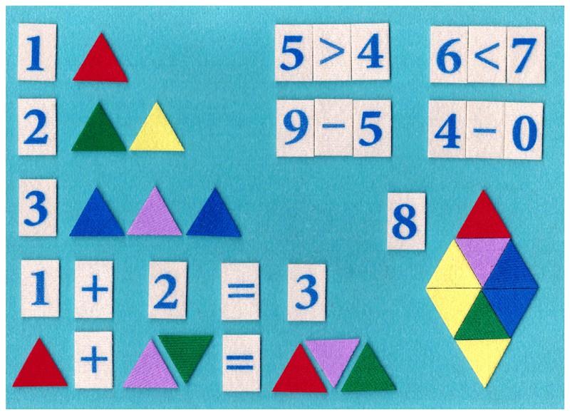 Мозаика математическая разноцветная