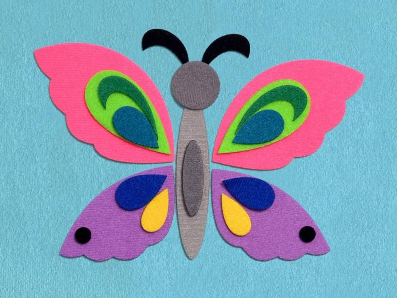 Как сделать с детьми бабочку 445