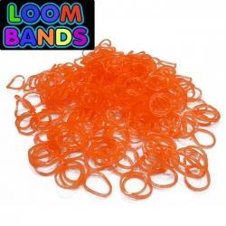 Полупрозрачные оранжевые резиночки Loom Bands (600шт)