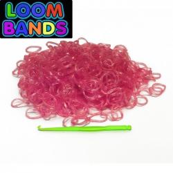 Розовые полупрозрачные резиночки Loom Bands (600шт)