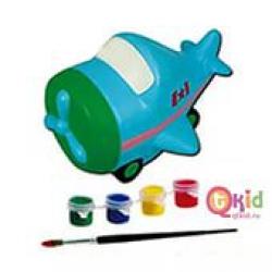 Детская копилка-раскраска Самолетик