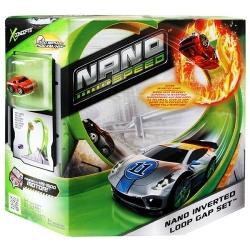 Машинка  Нано Cпид треком в форме спирали Nano Speed 90104