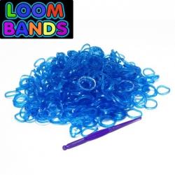 Полупрозрачные синие резиночки Loom Bands (600шт)