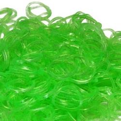 Зеленые полупрозрачные резиночки Loom Bands (600шт)