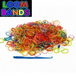 Полупрозрачные разноцветные резиночки Loom Bands (600шт)
