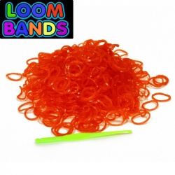 Красные полупрозрачные резиночки Loom Bands (600шт)
