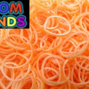 Двухцветные резиночки  (оранжевые с белым) Loom Bands (600шт)
