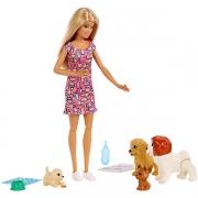 Игровой набор с куклой Barbie, Барби и щенки