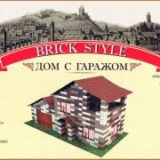 Дом с гаражом Brick Style (конструктор из кирпичиков)