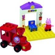 Конструктор поезд с остановкой Peppa Pig