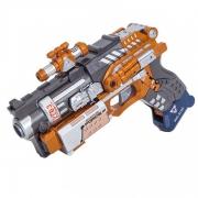 Пистолет-робот 2 в 1 Devik Toys Sliderс 6 мягкими патронами