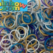 "Резиночки Rainbow Loom ""Металлический микс""  (300шт)"