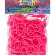 Резиночки  Rainbow Loom неон розовый (300шт)