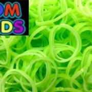 Двухцветные резиночки (зелёные с белым) Loom Bands (600шт)