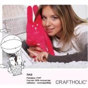Мягкая игрушка Крафтхолик Craftholic RAB PINK S-size