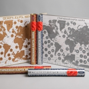 """Скретч-карт мира """"Подарочная"""" в картонном тубусе"""