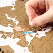 """Скретч-карт мира """"Color Edition"""" в картонном тубусе"""