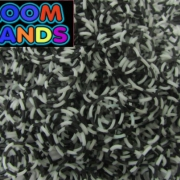 Полосатые черно-белые резиночки Loom Bands (600шт)