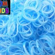 Двухцветные резиночки (голубые с белым) Loom bands (600 шт.)