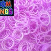 Двухцветные резиночки (сиреневые с белым) Loom bands (600 шт.)