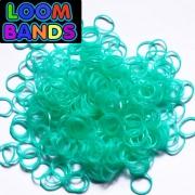 Изумрудные полупрозрачные резиночки Loom Bands (600шт)