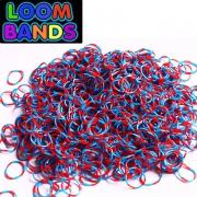 Полосатые (сине-красные) резиночки Loom Bands (600шт)