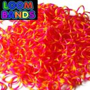 Полосатые резиночки (малиново-желтые) Loom Bands (600шт)