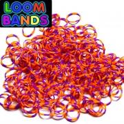 Полосатые резиночки (оранжево-фиолетовые) Loom Bands (600шт)