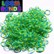 Полосатые резиночки (желто-голубые) Loom Bands (600шт)