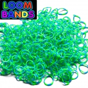 Полосатые резиночки (зелено-синие) Loom Bands (600шт)