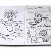"Многоразовая книжка-раскраска ""Морские обитатели"" Bradex"