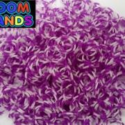 Полосатые бело-фиолетовые резиночки Loom Bands (600шт)