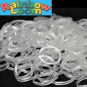 Белые светящиеся в темноте резиночки Rainbow Loom (600шт)