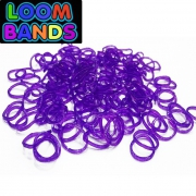 Фиолетовые полупрозрачные резиночки Loom Bands (600шт)
