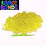 Желтые полупрозрачные резиночки Loom Bands (600шт)