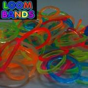 Светящиеся в темноте (флуоресцентные) резиночки Loom Bands (600шт)