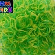 Полосатые резиночки желто-зеленые Loom Bands (600шт)
