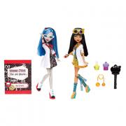 """Набор Monster High """"Безумная наука"""" из двух кукол - Клео де Нил и Гулия Йелпc"""