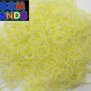 Полосатые резиночки желтые с белым Loom Bands (600шт)
