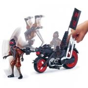 TNMT Огненный гонщик. Мотоцикл клана Фут с катапультой
