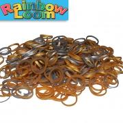 Резиночки Rainbow Loom Серебро-Золото (300шт)