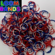 Триколор  резиночки Loom Bands (300шт)
