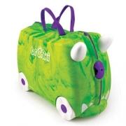 """Детский чемодан на колесиках """"Динозавр"""" Trunkisaurus Rex ( Транки динозавр зеленый)"""